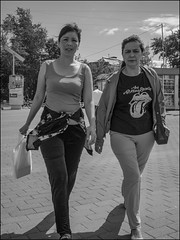 DR150802_0922D (dmitryzhkov) Tags: eye eyes eyecontact contact two look looks pretty prettywoman couple motion movement walk walker walkers pedestrian pedestrians sidewalk sony alpha black blackandwhite bw monochrome white bnw blacknwhite bnwstreet day daylight woman women lady art city europe russia moscow documentary journalism street streets urban candid life streetlife citylife outdoor outdoors streetscene close scene streetshot image streetphotography candidphotography streetphoto candidphotos streetphotos moment light shadow people citizen resident inhabitant person portrait streetportrait candidportrait unposed public face faces man