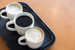 Three cups of coffee (baddoguy) Tags: art blackcoffee cafe cappuccino choice chonburiprovince coffeedrink coffeebreak coffeecup colorimage conflict contrasts copyspace cup decisions domination foam foodanddrink freshness horizontal latte meeting milk nopeople pattaya photography plate refreshment service thailand threeobjects tired variation woodmaterial