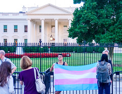 2017.07.26 Protest Trans Military Ban, White House, Washington DC USA 7673