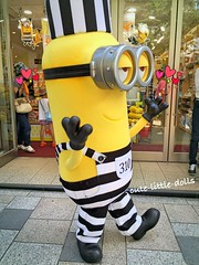 Have a lovely weekend🎵 (cute-little-dolls) Tags: minions kevin kawaii kiddyland harajuku event japan hotsummerday happy