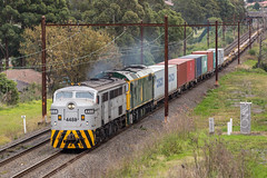 2017-07-03 QUBE 4488-8044 Belfield T254 (deanoj305) Tags: belfield newsouthwales australia au t254 4488 8044 qube logistics trip train container intermodal freight goods line metropolitan