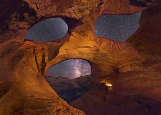 Spiderweb Arch, Hunts Mesa