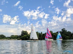 Sailboats (_jasonflaherty_) Tags: sailboat lincoln ne boats racing lake holmes water