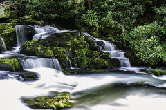 Smoky Mountains Waterfall (Scott Sanford) Tags: 6d canon ef2470f28l eos naturalbeauty naturallight nature outdoor summer sunlight water waterfall colors longexposure