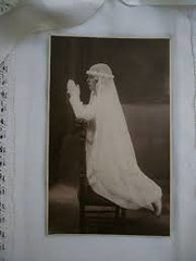 images (2) (Old Paper Perfume) Tags: vintage communion ceremony catholic religious antique girl dress holy blessed sepia black white altered art mixed media craft supply church prayer 1900s ancient rare antiquedress fashion comunion foto vestido antiguo religioso catolico etsy