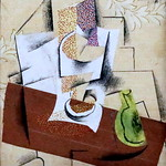 IMG_8425 Pablo Picasso. 1881-1973. Compotier et poire coupée. Composition with a sliced pear. 1914.    (Collection Chtchoukine. Saint Pétersbourg. Ermitage.  Exposition temporaire  Fondation Louis Vuitton. Paris. ) thumbnail