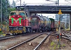 Finnish Railways Dv12 diesel-hydraulic No. 2748 at Rauma on 4 July 2017 (Trains and trams eveywhere) Tags: vr finnishrailways dv12 dieselhydraulic locomotive train finland rauma cargo goods freight railtank tankwagon