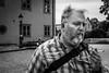 Fear and Loathing in Vaxholm, Sweden (kerrylaynejeffrey) Tags: portrait father dad sweden europe scandanavia x100s fuji black blackandwhite white beard smoking travel vaxholm gritty