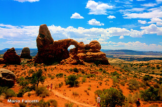 USA: Utah: Arches National Park: Turret Arch