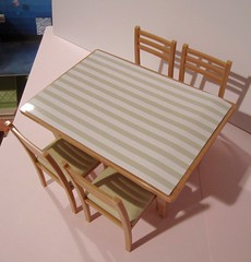 The new Re-ment dinette set. (wpnschick) Tags: rement barbiefurniture