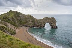 Durdle Door Dawn. (miketonge) Tags: durdledoor jurassic coast jurassiccoast dorset sea arch door cliffs beach headland dawn