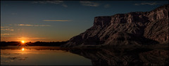Sunset Reflections (Color Blind 56) Tags: sunset reflections adobephotoshopelements13 adventure composite d7100 dramatic evening lake mountains natural nikon photomatix hdr rock sky sunrise utah wideangle water landscape cb1956