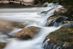 Cascading Creek (tquist24) Tags: christianacreek elkhart indiana nikon nikond5300 wellfieldbotanicalgardens creek geotagged longexposure river rocks water waterfall unitedstates