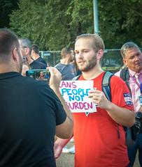 2017.07.26 Protest Trans Military Ban, White House, Washington DC USA 7623