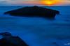 Behind the rock (haddadzakaria) Tags: 2017 algeria color grandphare jijel landscape longexposure nature rock sea seascape summer sun sunset