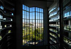 Hotel atrium (chrisk8800) Tags: chrisk8800 barcelona hotel atrium window balconies glass lines geometric structure patterns composition reflections