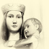Madonna & Child, All Saints Clipstone (andrewallsop) Tags: 2015top10 architecture bw clipstonechurch dropbox emafinal lrps madonna rps sacredspace sculpture year2015 yearbook
