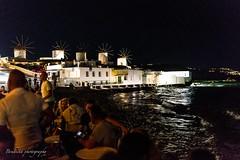 Les 5 moulins de Mykonos. (Bouhsina Photography) Tags: mykonos grece ile moulin vent nuit plage mer egée 2017 terrasse café bar restaurant bouhsina bouhsinaphotography canon 5diii sigma 35mm
