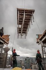 Vancouver BC - Exchange Tower (22) (doublevision_photography) Tags: vancouver vancouvercity vancouverrealestate vancouverbc vancouverskyline vancity vancouvercanada jasocrane constructioncrane vancouverconstruction roofing vancouverroofing contruction towercranephotography flyingtables tableflying