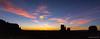 Monument Valley sunrise panorama (NettyA) Tags: 2017 arizona monumentvalley navajotribalpark sonya7r themittens usa westmittenbutte clouds silhouette sky sunrise travel panorama pano merrickbutte sentinelmesa