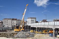 Liebherr HS 832 HD (Alexandre Prévot) Tags: construction travaux chantier worksite buildingsite construcción baustellebauplatz cugn grandnancy lorraine
