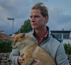 Shiba Inu Zoey with owner (frankmh) Tags: portrait dog people shibainu hittarp helsingborg skåne sweden outdoor