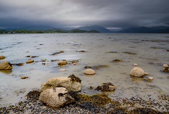 A storm is brewing over Creran.... (Coisroux) Tags: creran lochs scotland stones pebbles storms thunder mountains ominous lichen d5500 nikond