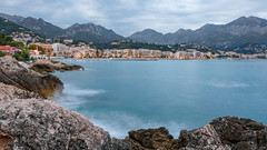 DSCF1612 (Outsider42) Tags: mer paysage eau lac plage côte azur roquebrune cap martin beach sunset recif rocher rock sea