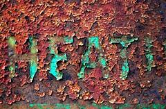 Texture, rusty oil tank (holly hop) Tags: mm macromonday memberschoicetexture texture macro greenrust oxidation rust rustyandcrusty heat oil tank rusty