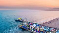 Santa Monica Pier | Santa Monica, CA (lulejt) Tags: losangeles santamonica ca la santamonicapier beach sunset drone dji djiphantom4 aerial pier sky summer west oceanview