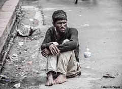 Madman (MashrikFaiyaz) Tags: people portrait street urban city cityscape dirty road nikon d5300 flickrunitedaward asia dhaka bangladesh madman summer day natural light sunlight exploration life megacity may lazy monochrome black white man aged