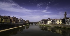 No. 1019 Ponte Vecchio (H-L-Andersen) Tags: pontevecchio florence firenze italy arno river bridge sky reflections 6d canoneos6d cpl summer ponte