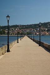 Drepano Bridge - Argostoli (steve_whitmarsh) Tags: greece kefalonia argostoli lamp path bridge lights