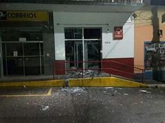 Criminosos atiram em batalhão militar e explodem três caixas eletrônicos em Bueno Brandão, MG (portalminas) Tags: criminosos atiram em batalhão militar e explodem três caixas eletrônicos bueno brandão mg