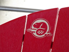 Made in Canada (Flight Map) Tags: beaver adirondack chair red logo