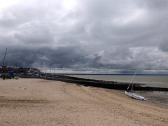 A storm approaches over Seasalter. On Whitstable beach at the end of the Crab and Whinkle Way - archiving. (favmark1) Tags: crabandwinkleway canterbury whitstable storm beach 2017 365challenge day180