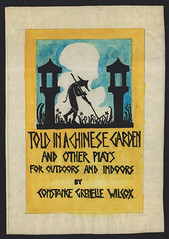 Told in a Chinese Garden playbook cover (Madison Historical Society) Tags: madisonhistoricalsociety madisonhistory mhs madison connecticut conn ct connecticutscenes country usa newengland scan bobgundersen old historical history museum jitneyplayers performer interesting image photo picture people portrait shot shoreline route1 bostonpostroad illustrated illustration poster