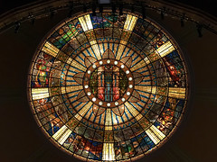 stained glass ceiling, the muses, palace of fine arts (ikarusmedia) Tags: muses place fine arts stained glass ceiling urania thalia meupomene euterpe kalliope klio terpsichore erato polymnia rooftop opera mexico city downtown
