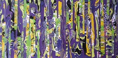 Purple Rain (JuleeL) Tags: abstract painting poured paint fragmentation purple yellow lime green acrylic contemporary
