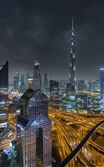Downtown Dubai (Hany Mahmoud) Tags: dubai city emirates burjkhalifa downtown hotel travel explore night cityscape landscape nikon towers skyscraper modern traffic skyline ngc