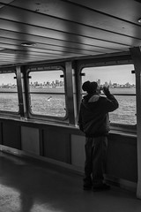 Perfect day - NYC (USA) (Javier Álamo Andrés) Tags: the staten island ferry new york city usa america people cityscapes black white bw manhattan