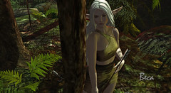 Elven Hunter 1 (Beca Staheli) Tags: elf elven fantasy magic forest cosplay archer hunter boy femboy girlyboy trap feminine effeminate genderbender secondlife second life avatar photography androgynous flat chest bow
