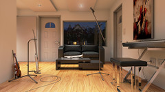 Estudio Grabación Cámara 2 Final (eestudio_nqn) Tags: música instrumentos estudio sonido vray 3dsmax bateria guitarra teclado consola photoshop diseño
