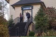 Getting Ready (jwcjr) Tags: highlandsnc highlandsnorthcarolina wedding bridge maconcountync church people steps door olympus