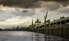 Quayside Antwerp. (rudi.verschoren) Tags: cranes schelde sky sun white reflection water clouds track belgium belgie bright cloudy crane hangar kade wolken quay antwerp outdoor overlooking panorama pittoresque mood sunset summer antwerpen artistic noord terras rainy day ngc eos