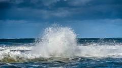wave (hoogen imagery) Tags: hoogenimagery ambientlight geelong oceangrove bellarinepeninsula blue water white cloud victoria australia ocean winter cold brisk drama frozen