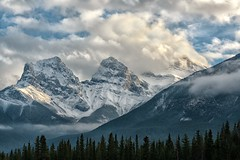 Canmore's 3 Sisters (Philip Kuntz) Tags: threesisters faithhopecharity canadianrockies peaks mountains canmore alberta canada