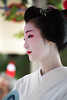 photogenic (byzanceblue) Tags: gion miyagawacho miyakawacho toshiemi maiko kyoto japan beauty beautiful cute carnival shrine bokeh white red colour color kimino kanzashi face eyes nape fan 宮川町 祇園 京都 舞妓 geisha とし恵美 コンチキ踊 nikkor summer professional 祇園祭 花傘巡行 japanese cool portrait 駒屋