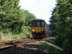 150102 Perranwell Crossing (Marky7890) Tags: gwr 150102 class150 sprinter 2f76 perranwell railway cornwall maritimeline train