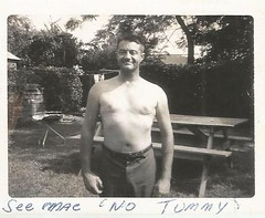 """See, Mac, No Tummy"" (912greens) Tags: 1960s tummiless proud poses backyards folksidontknow tummies"